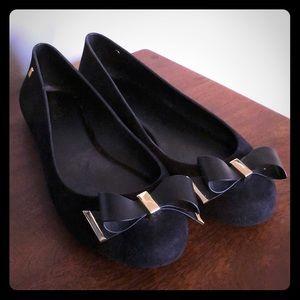 Melissa black flats size 9